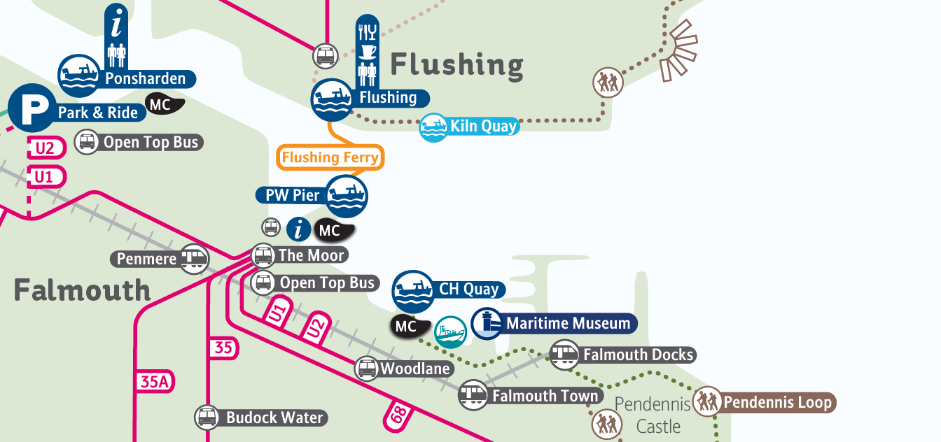 Flushing Ferry Map 2015